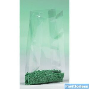 8x3x15 1 Mil Clear Gusset Expand Plastic Poly Bags 1000