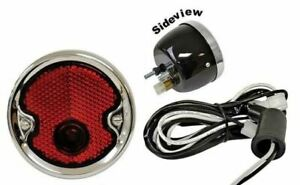 Tail Light Assembly Black W Stainless 1954 1955 Chevroet Chevy Truck