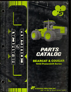 Steiger Bearcat Cougar Tractor Parts Manual