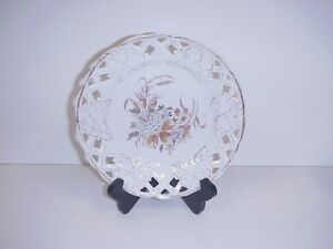 Antique German Reticulated Porcelain Salad Plate