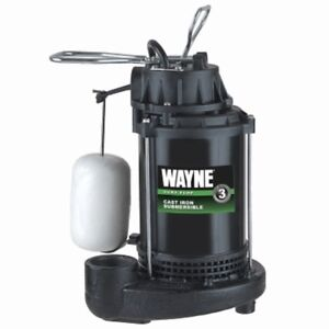 Wayne Cdu800 1 2 Hp Submersible Cast Iron Sump Pump