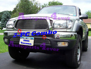 Billet Grille Combo For 01 02 03 04 2003 Toyota Tacoma