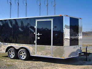 8 5 X16 Enclosed Motorcycle Cargo 4 Bike Trailer Free Harley Davidson Decals New