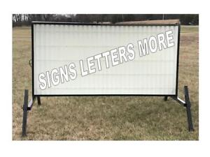 New Outdoor Portable Lighted Business Sign W 8 Letters 4 X 8 Message Area