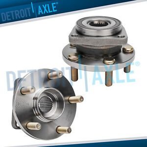 New Set 2 Front Driver And Passenger Wheel Hub And Bearing Assembly W Abs