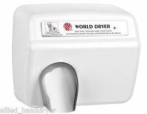 World Dxa5 110 120v hand Dryer With Stamped Steel Cover