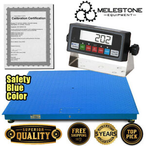 New 10000x1lb 48 x48 Floor pallet Scale W high End Indicator Calibration Cert