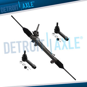 Complete Power Steering Rack And Pinion 2 New Outer Tie Rod Fwd Only