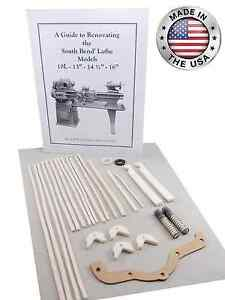 South Bend Lathe Heavy 10 Rebuild Parts Kit Illustrated Guide Model 10l 10r
