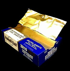 Handi foil 9 x10 75 Gold Aluminum Foil Premium Quality Pop up Sheets 2 X 200pk