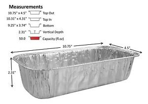 3 Lb Disposable Aluminum Foil Loaf bread Pan Container Baking Tin 50 Pack