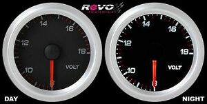 Revo Voltage Volt 8 18v Gauge Meter 52mm White Led
