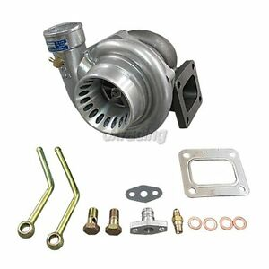 Cxracing Gt35 T4 Turbo Charger Anti Surge 500 Hp Oil Fitting Fast Spool