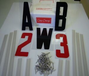New Readerboard 8 Flexible Letters 10 Sign Track Kit