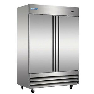 Norpole Stainless 2 Door Commercial Reach In Freezer Np2f