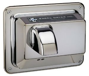 Excel R76 ic 110 120v Hands Off Recessed Automatic Chrome Hand Dryer