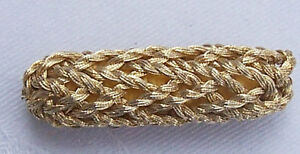 Vintage Gold Metallic Bobbles Oblong Corded French