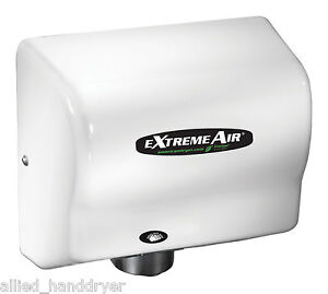 American Extremeair Gxt9 Automatic Surface Mounted Hand Dryer W white Abs Cover