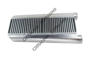 Cxracing Bar Plate Aluminum Turbo Intercooler 26x13x3 5 For Mustang V8 5 0