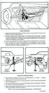 1962 Ford Thunderbird Jack Instruction Decal