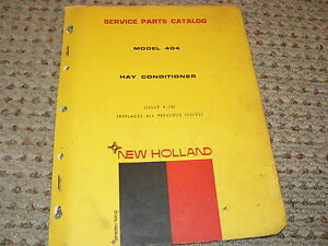 Ford New Holland Model 404 Hay Conditioner Dealer s Parts Book