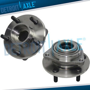 Set 2 New Front Wheel Hub And Bearing Assembly For Concorde Intrepid Vision