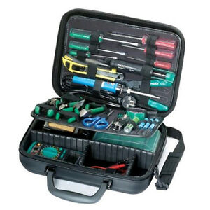 New Electronic Basic Tool Kit W Case Electrician Service Repair Electrical set