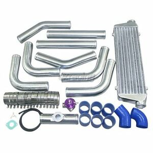 Cxracing Universal Blue Couplers 2 5 Aluminum Fmic Intercooler Piping Kit Bov