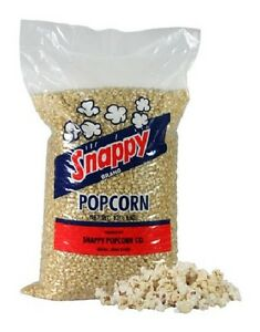New 50 Pounds Snappy White Kernel Popcorn 4 12 5 Lb Bags case smaller Husks