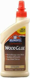 12 Elmer s E7010 8 Ounce Carpenter s Interior Wood Glue For Furniture Repair