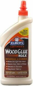 6 Elmer s E7310 16 Oz Stainable Waterproof Carpenters Indoor Outdoor Wood Glue