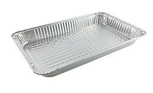 Full size Medium Steam Table Aluminum Foil Pan 50 Pack Disposable Party Trays