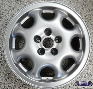95 97 Volkswagen Passat Used Rim 15x6 5 Lug 100mm 8 Spoke Silver 69714