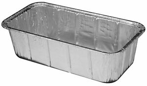 2 Lb Aluminum Foil Loaf Pan 100 Pack Disposable Bread baking Tin Containers