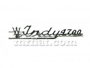 Maserati Indy 4700 Script Chrome Emblem New