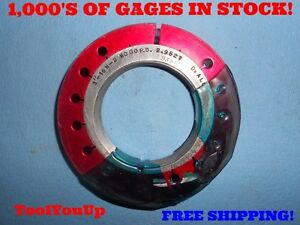 3 16 N 2 Thread Ring Gage No Go Only Usa Made Gage 3 000 P d 2 9521