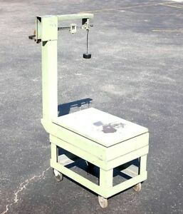 Scale Shipping Rolling Wheel Weigh Weight Cart 28 X 19 Portable