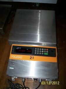 Toledo Scale 8132 Display Panel Bench top Platform Scale 2095 105 Lbs
