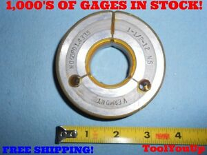 1 1 2 12 Ns No Go Only Thread Ring Gage P d 1 4335 Machine Shop Tooling Tools