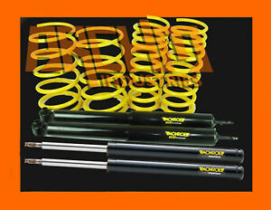 Vh Commodore 6cyl Sedan 50mm Super Low King Springs Monroe Gt Struts Shocks
