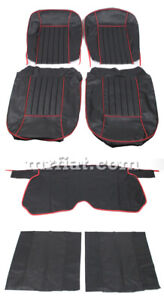Alfa Romeo Giulietta Spider 2nd Series Black W Red Piping Seat Covers New