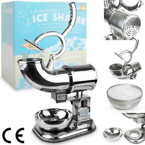Heavy Duty Commercial 440lb h Snow Cone Ice Shaver Shaved Icee Steel Machine