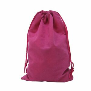 50 Fuchsia Drawstring Velvet Square Wedding Pouches Jewelry Gift Bags 6 X 9
