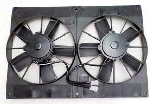11 Dual Extreme Electric High Performance Radiator Cooling Fan Twin Hd Puller
