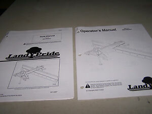 Landpride Rbt40 Rear Blades Operator s Parts Manuals 2 Manuals