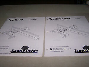 Landpride Rbt45 Rear Blades Operator s Parts Manuals 2 Manuals