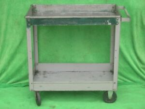 Lyon Steel Utility Hand Shelf Service Order Rolling Cart Storage Workstation