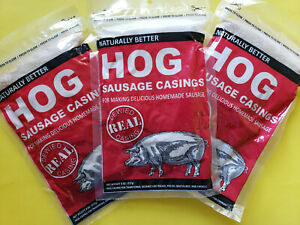 3 Packs Natural Hog Pork Sausage Casings Stuffing For Links Brats Etc