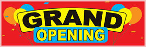 2 5ftx8ft Grand Opening Vinyl Banner Alt To Feather Swooper Flag 2 5 x8