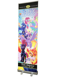 24 x79 Roll Up Retractable Banner Stand Free Printing Trade Show R080
